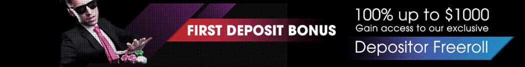 Black Chip Poker's First Deposit Bonus